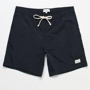 "Modern amusement 17"" black swim trunks M NWT"